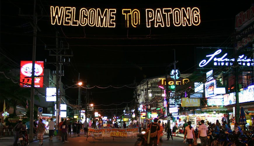 Bangla Road à Patong (Phuket)